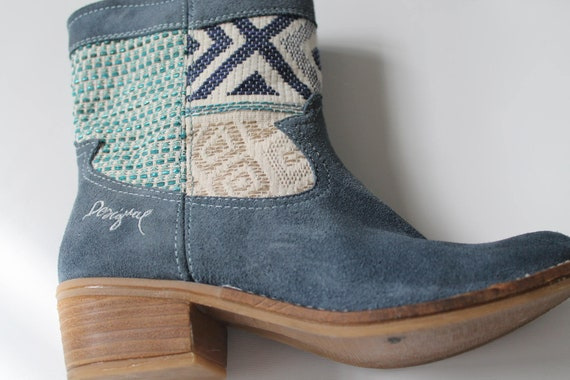 Designal Vintage/Designal boots/Blue suede ankle b