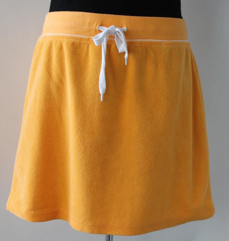 Isaac Vintage MizrahiIsaac Mizrahi SkirtVintage Terry Skirt  Terry SkirtFabric Skirt TowelOrange Terry Skirt  Isaac Mizrahi