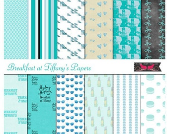 Audrey Hepburn Inspired Digital Papers