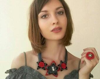 Zipper necklace, Zipper jewelry, Handmade jewelry, Handmade necklace, Gift for her, Original gift