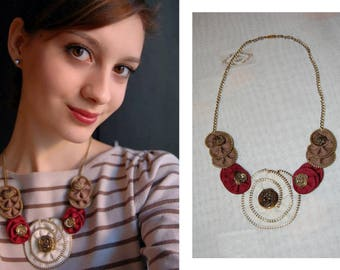 Zipper necklace, Zipper Jewelry, Handmade necklace, Handmade Jewelry