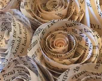 """10"""" Book Page Wreath"""