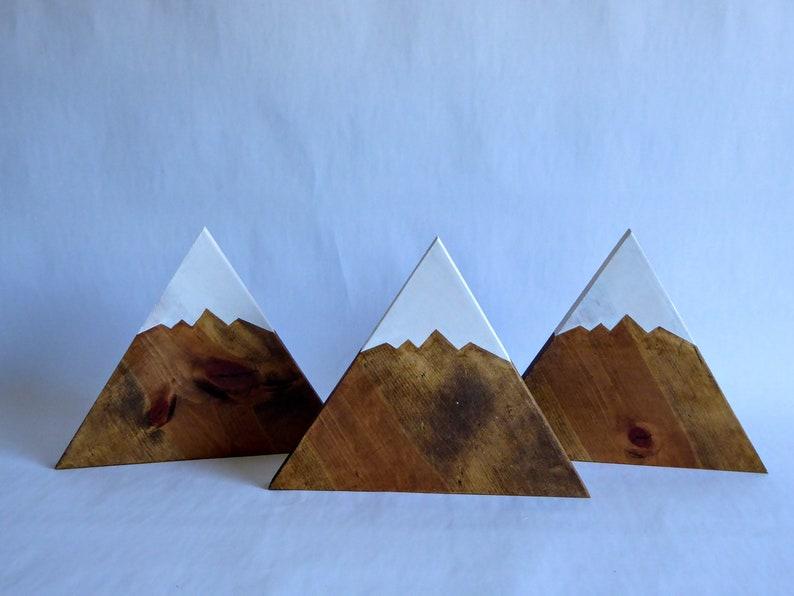 Mountain Wall Art Wooden Mountains Mountains Set Of 3 Colorado Art Cabin Decor Rustic Decor Nursery Decor
