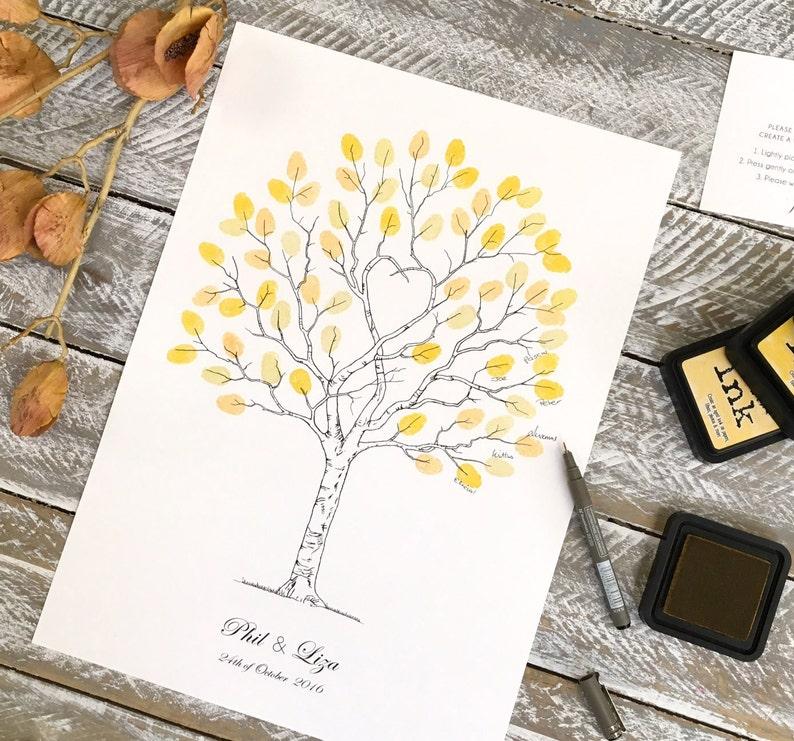 Fingerprint Trees A3, wedding Guest Book