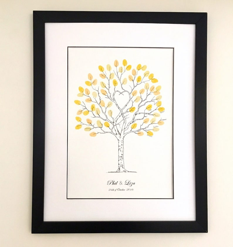 Fingerprint Trees A3, wedding Guest Book