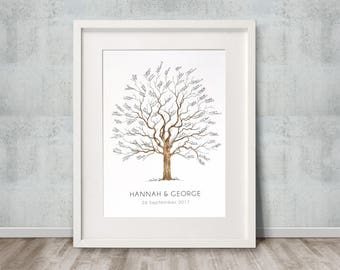 A3 Signature Tree guest book. Size 297mm x 420mm. 40-90 guests. Personalised with your details. FREE delivery Aust.