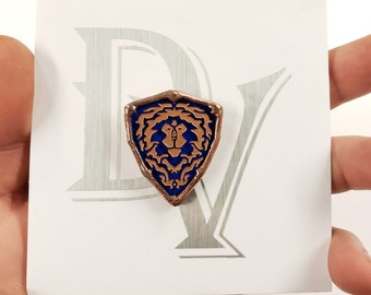 Stained Glass Alliance Shield Mini Pin