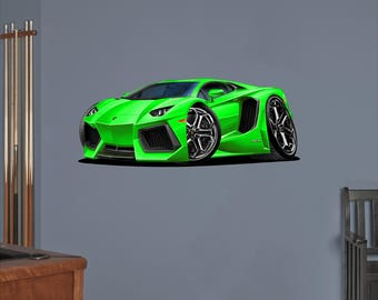 Sports Car Decal Etsy
