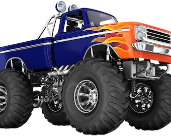 Monster Truck Wall Decal for Boys/Kids Bedroom Wall Art
