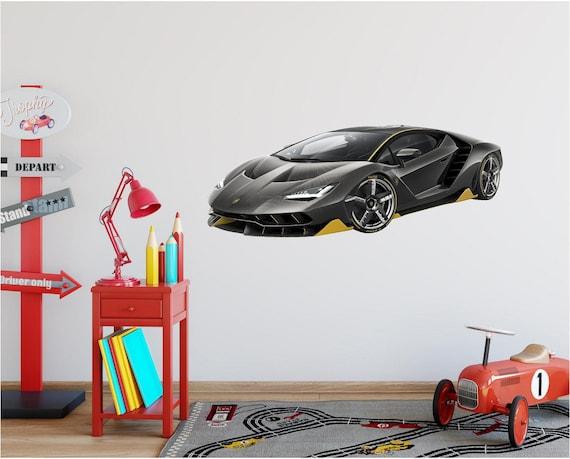 Lamborghini Aventador Racing Sport Removable HD Car Wall Decal Mural Vinyl Stick