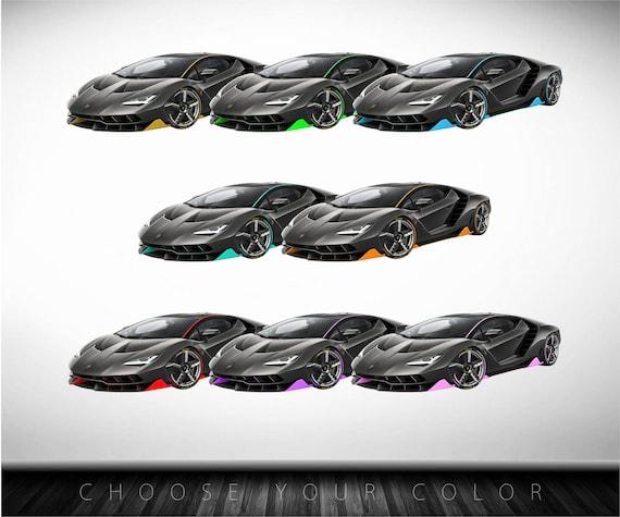 Bugatti Chiron Hyper Super Cars décalcomanie autocollant mural Enfants