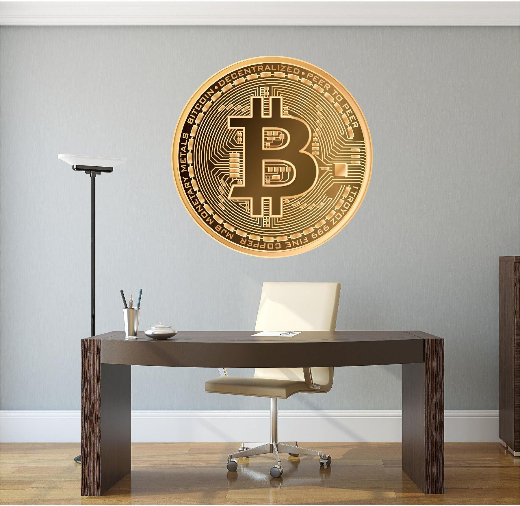 Bitcoin Removable Vinyl Wall Decal, Crypto Currency, Crypto, Etherium,  Litecoin, BTC, Money Logo, Home Office Decor, Gift for Him, Christmas