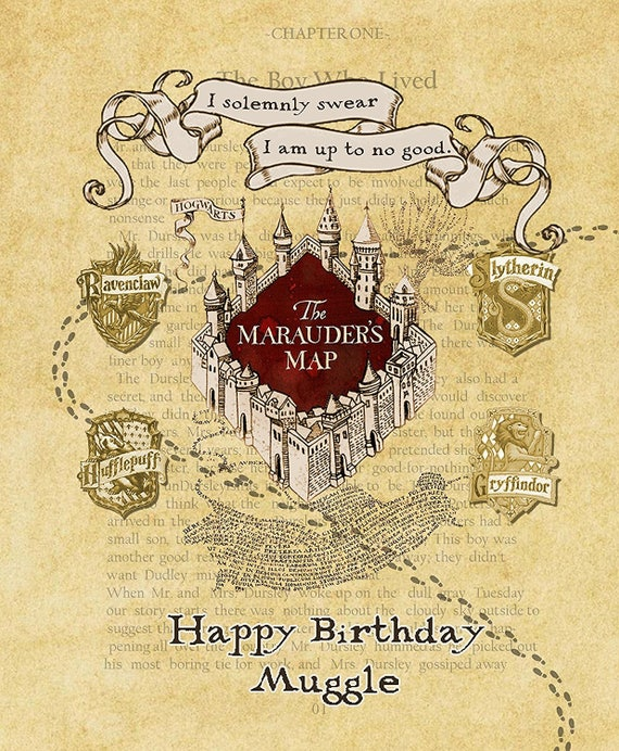 photograph relating to Harry Potter Marauders Map Printable titled Harry Potter Marauders Map Customized Print Reward