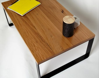 The Mason Table, Blackbutt and Steel Coffee table **TWo Unique Tables in stock**