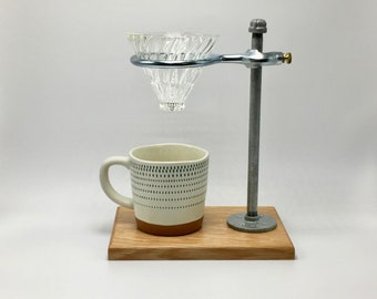 Adjustable Pour-Over Coffee Station - White Oak/Hario v60 Edition: coffee stand, coffee dripper, coffee maker, hario, v60