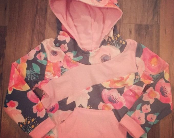 Slant seam hoodie