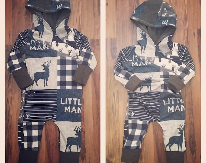 Hooded grow romper