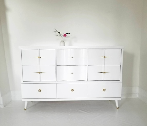 Soldbeautiful Mid Century Modern Dresser Credenza Vintage Etsy