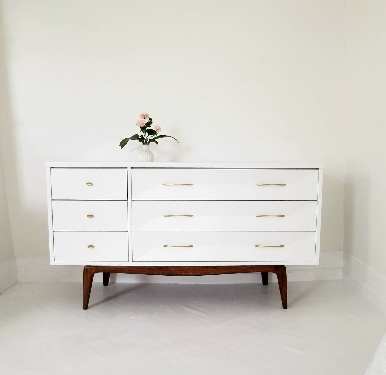 Mid Century Modern Dresser Credenza Media Console Vintage Mcm Walnut Dresser Painted Mid Century Dresser Nj Nyc
