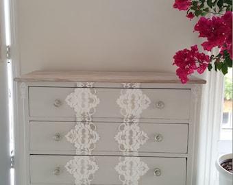 Hand Painted Dresser, Vintage Dresser, Shabby Chic Furniture, Distressed  Furniture, Gray Dresser