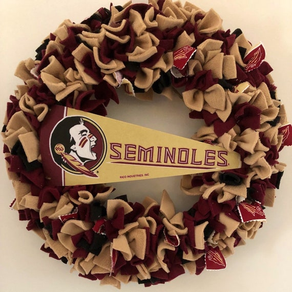 Florida State University Wreath Seminoles Football Etsy