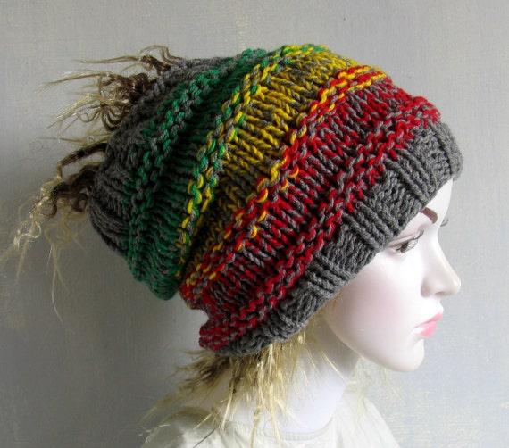 Women s Hat Dreadlocks Women Hat Slouchy Beanie Slouchy  b8b9c095942