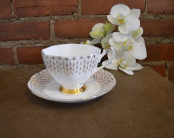 Queen Anne bone china teacup and saucer