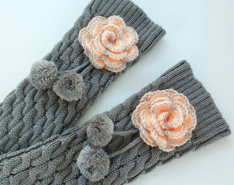 152f2f30b Calentadores de lana- Polainas artesanales-Handmade Leg Warmers- Knit and  crochet leg warmers-