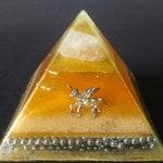 Audranite Yellow Unicorn Pyramid