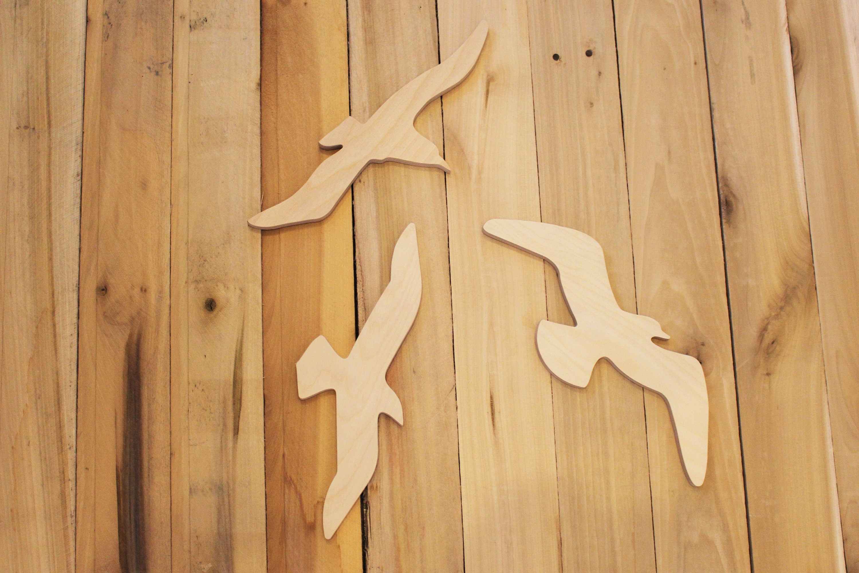 Large Seagulls Beach Decor see birds wooden seagull wall