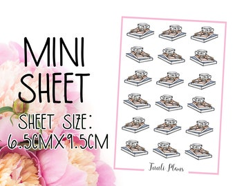 Mini sticker sheet: reading time | reading stickers | relax stickers | Perfect for your weekly planner, monthly planner, journal etc.
