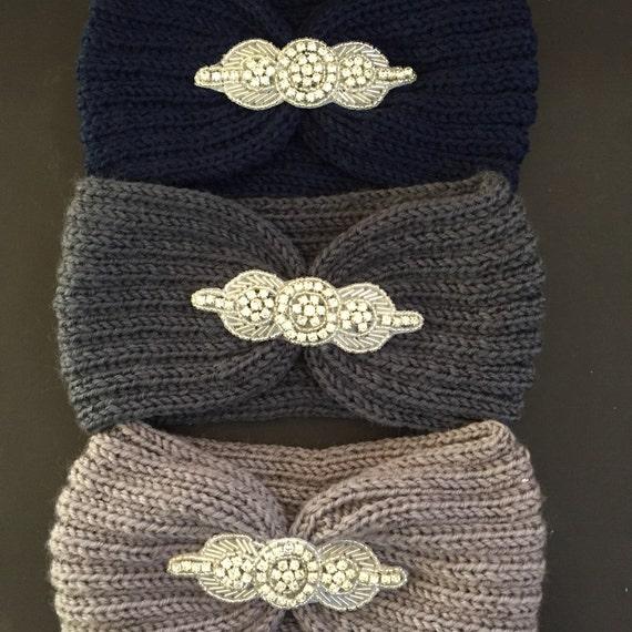 Strass-Strick-Stirnband verschönert Ohrenwärmer   Etsy