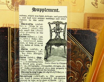 BOOKMARK - Dictionary 1907 - Vintage, Print, Writing, Typography, Old Book