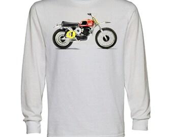 Vintage Dirtbike Racing 125 250 450 Motocross Graphic Hoodie for Men