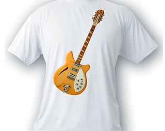 rickenbacker 360 12 string guitar 1964 vintage image t-shirt rock n roll music