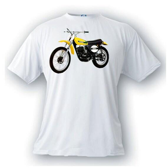 Yamaha Tm 250 Vintage Image Motorcycle T Shirt Great Gift For Any Motocross Moto Cross Racing Fan Classic Motorcycling Bike Yamahas