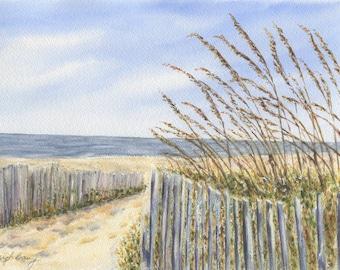 Beach landscape | Etsy