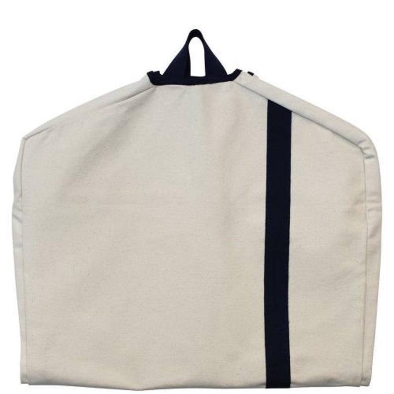 Canvas Garment Bag Bridal Gift Garment Bags Monogrammed Garment Bag Groomsmen Bag