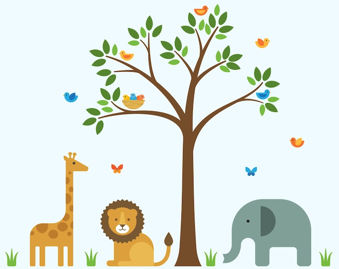 Safari Nursery Decor Safari Decor Large Safari Baby Decor