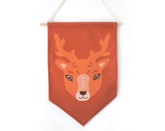 "Pennant decorative ""deer"", wall decor, child's room."