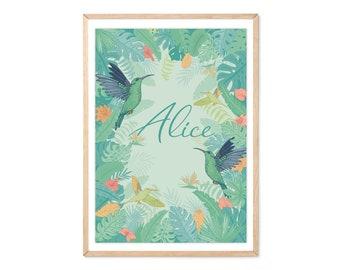 Tropic customizable poster, jungle, nursery