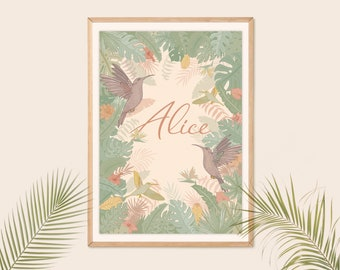 Tropic customizable poster, children's bedroom poster