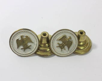 Vintage Solid Brass Or Similar Metal Eagle Drawer Pulls, 1970s Or 1980s,  American Eagle Drawer Pulls, Priced Individually. Hardware // Pull
