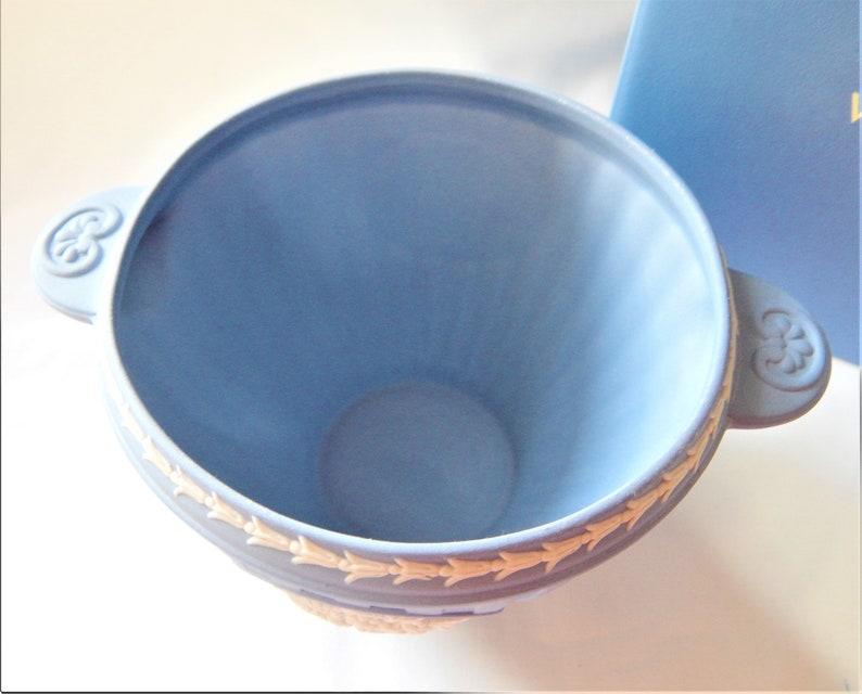 Wedgwood Blue Jasper Bacchus Bowl Boxed Vintage Rare Piece