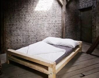 Bauholz Bett, Individuelle Maßanfertigung