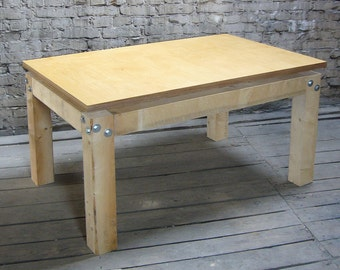Wood table with high-quality tabletop