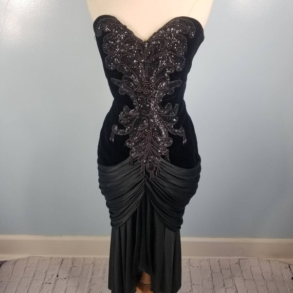 Cache  beaded and sequin dress