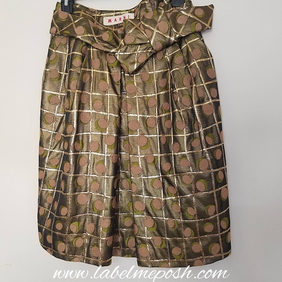 Marni Metallic Jacquard Skirt