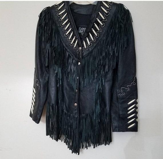 Leather Gallery Boho Fringe Suede and Leather Jack