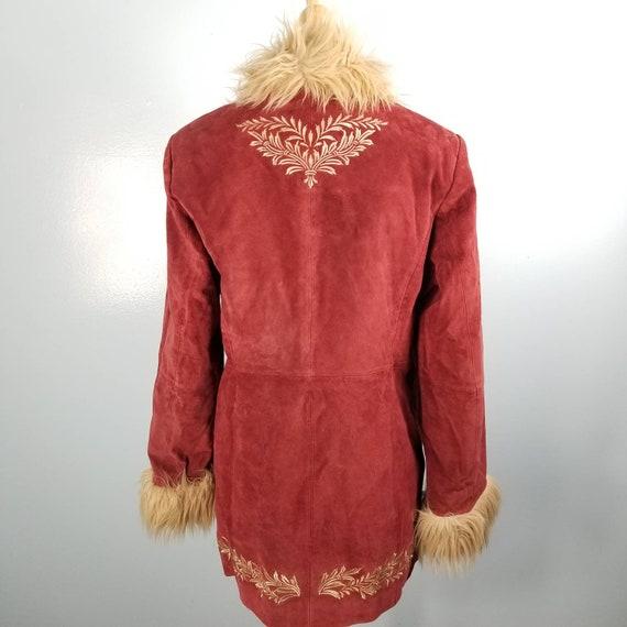 Penny Lane Suede faux fur coat